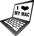 I Love My Mac vector image vector image