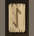 isolated on white wooden rune eihwaz vector image vector image