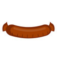 isolated sausage icon vector image vector image