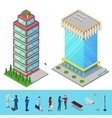 Isometric skyscraper city office building