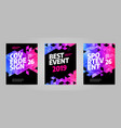 layout poster template design for sport event 2019 vector image vector image
