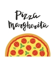 Margherita Pizza and hand vector image vector image