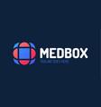 medical logo design abstract medical cross made vector image