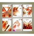 Modern ornage brochure design vector image vector image