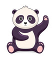 panda bear animal standing on a white background vector image