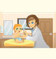 pediatrician with baby vector image