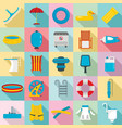 pool equipment icon set flat style vector image