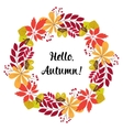 round frame of autumn leaves and berries vector image vector image