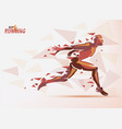 running man sport and competition background with vector image vector image