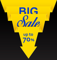 Sale poster with yellow ribbon vector image vector image