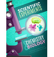 scientific experiments poster vector image