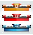 scoreboard elements design sport vector image vector image
