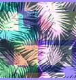 seamless exotic pattern with tropical palm in vector image vector image