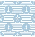 Seamless nautical pattern with turtles and anchors vector image vector image