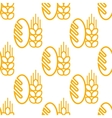 Seamless pattern of bread and bakery symbol vector image vector image