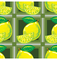 seamless pattern of yellow lemons vector image