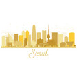 seoul korea skyline silhouette with golden vector image vector image