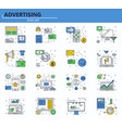 set business marketing and advertising vector image vector image
