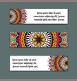 set horizontal banners with colorful vector image vector image