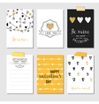 Set of Love Cards - Valentines Day Invitation vector image vector image
