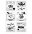 Set of Retro Vintage Coffee Label Backgrounds vector image vector image