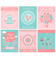 set wedding template card or invitations vector image vector image
