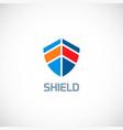 shield shape color logo vector image