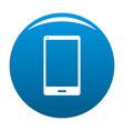 smartphone icon blue vector image vector image