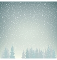 Snowfall Snow Falls on the Spruces vector image