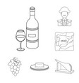 spain country outline icons in set collection for vector image