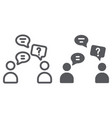 speaking people line and glyph icon chat and vector image