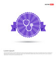 stethoscope icon - purple ribbon banner vector image vector image