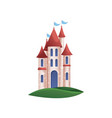 stone kingdom knight castle with blue windows and vector image vector image