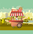 street food with popcorn vector image vector image