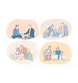 teamwork business negotiations deal office vector image