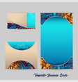 template business cards 1 vector image vector image