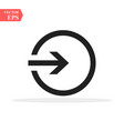 the login icon isolated sign symbol and flat style vector image