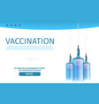 vaccination medical editable clinical webpage vector image