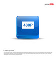 video resolution icon - 3d blue button vector image