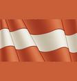 vintage flag austria close-up background vector image vector image