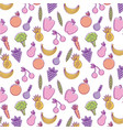 watercolor fruit food delicious seamless pattern vector image