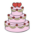 wedding cake icon cartoon vector image vector image