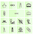 wire icons vector image vector image