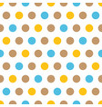yellow blue and beige polka dots background vector image