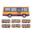 yellow bus set vector image vector image
