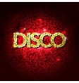Disco party lights gold background Hot dance vector image