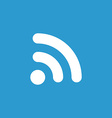 WiFi icon white on the blue background vector image