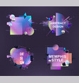 abstract memphis art forms for design advertising vector image vector image