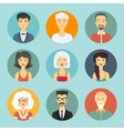 Avatar people icon vector image