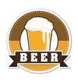 Beer design vector image